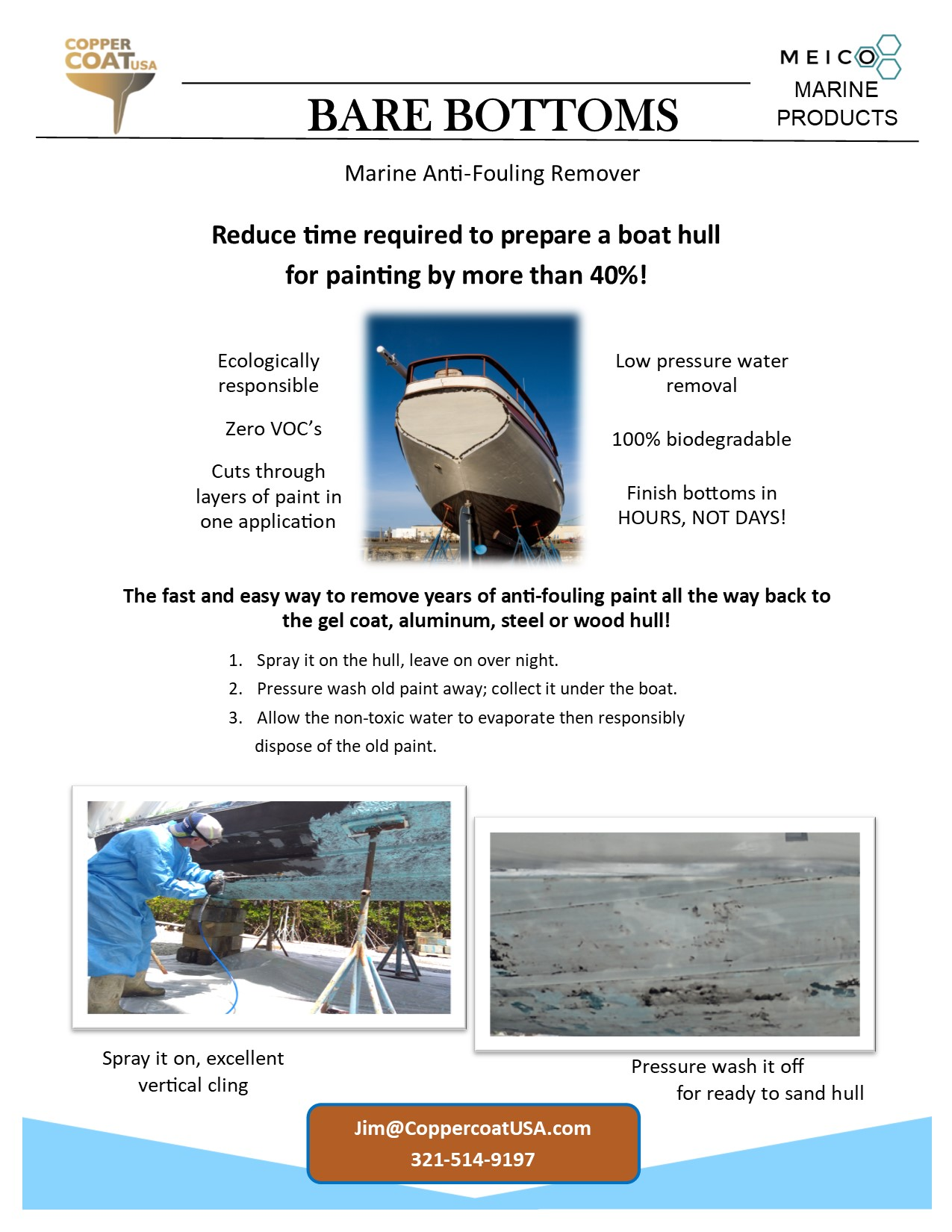 Bare Bottoms Anti-Fouling Remover Flyer